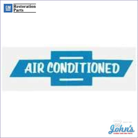 Air Conditioned Window Decal A X