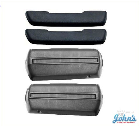 Armrest Base And Pad Kit With Molded Pads- Black A X F1