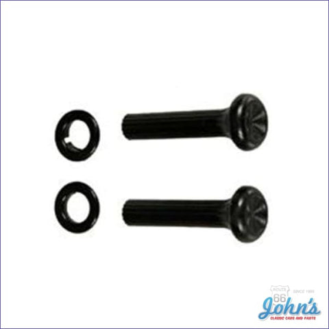 Astro Vent Pull Knobs And Black Ferrules Kit- 4Pc F1