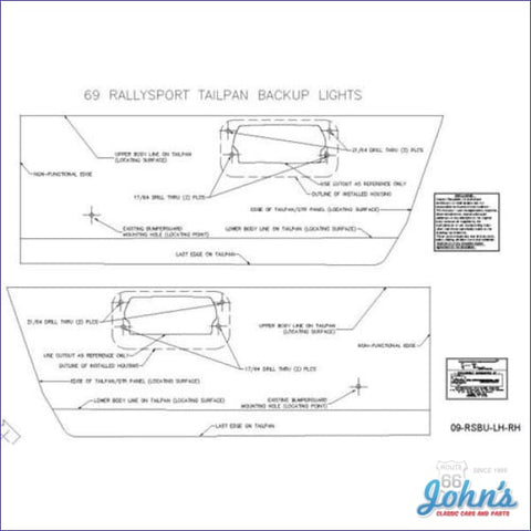 Back Up Light Template Kit- Rally Sport F1