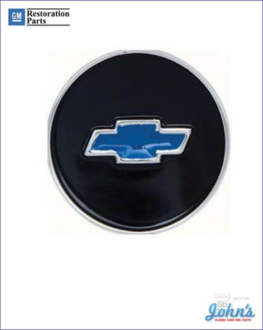 Blue Bowtie Plastic Steering Wheel Horn Shroud Emblem Malibu Or Yenko Gm Licensed Reproduction A
