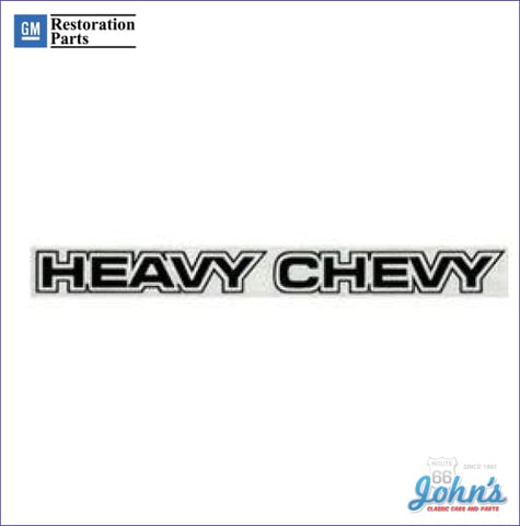 Body Decal Black- Heavy Chevy A