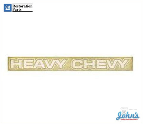Body Decal White- Heavy Chevy A