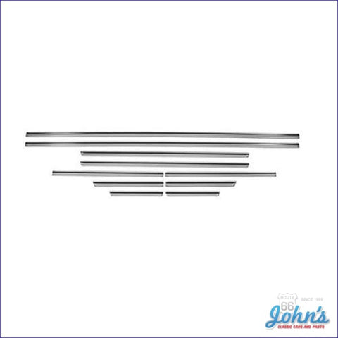Body Side Molding Kit 10Pc With Clips. Top Quality (Os1) A