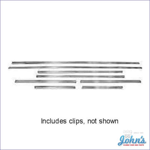 Body Side Molding Kit 8Pc With Clips. (Os1) A
