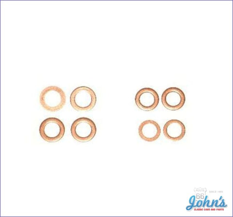 Brake Hose Copper Washer Seal Kit 8Pc A F2 X F1