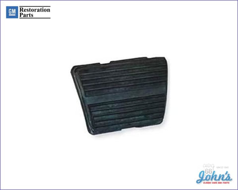 Brake Pedal Pad With Horizontal Ribs 3 Or 4 Speed Gm Licensed Reproduction X