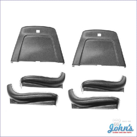 Bucket Seat Backs & Sides Plastic Kit - Complete With Chrome Trim. Black. (Os1) A X