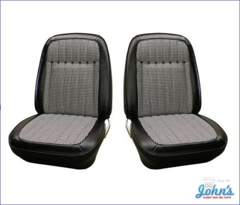 Bucket Seat Covers With Houndstooth Deluxe Interior- Pair F1