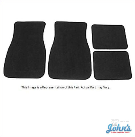 Carpet Floor Mats Front And Rear. Custom Fit Set Of 4. (Os1) X