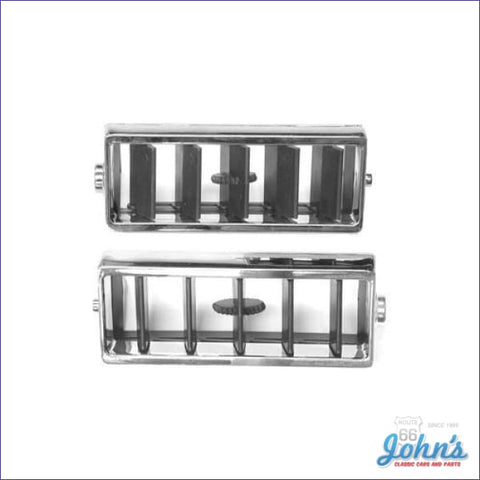 Center Ac Vents Chrome- Oe- Pair A