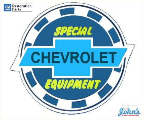Chevrolet Special Equipment 3 Window Decal. Each A F1 F2 X