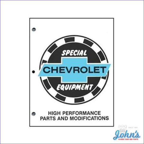 Chevrolet Special Equipment Parts And Modifications Manual A