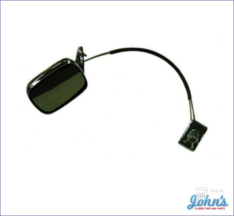 Chrome Exterior Mirror Remote Control- Driver Side A