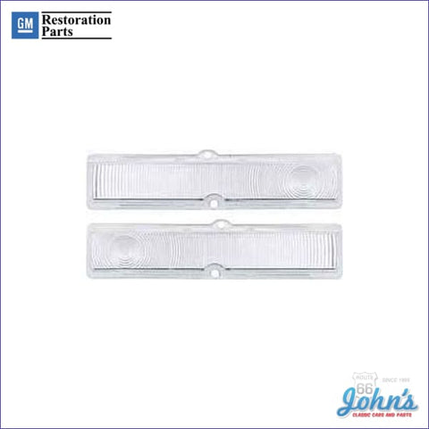 Clear Park Lamp Lenses Pair Gm Licensed Reproduction X