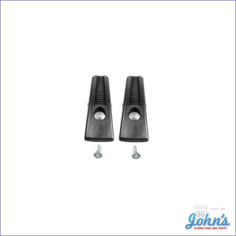 Coat Hooks Black Pair A F2 X F1
