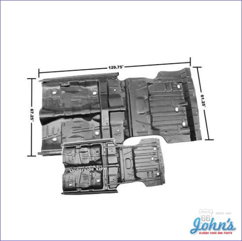 Complete Floor And Trunk Pan With Rockers Braces (Truck) A