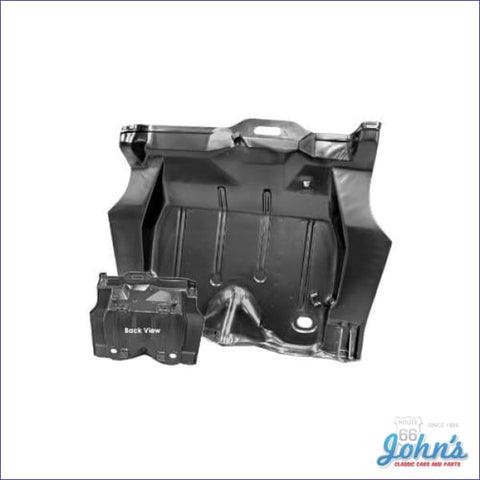 Complete Trunk Pan One Piece With Center Braces. (Truck) F2