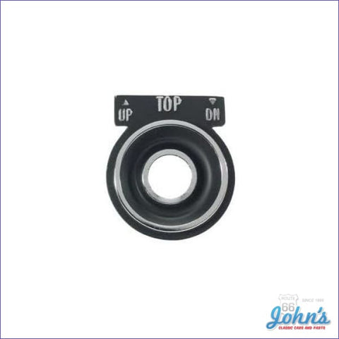 Convertible Power Top Switch Bezel. A