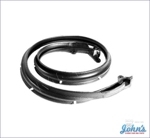 Convertible Top Header Seal With Molded Ends A