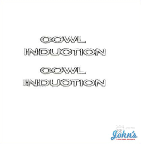 Cowl Induction Hood Emblem Set. A