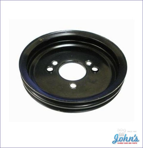 Crank Pulley Bb 2 Groove Deep W/ac-W/o Ps Or W/o Ac-W/air Pump Short Wp.gm A X F1