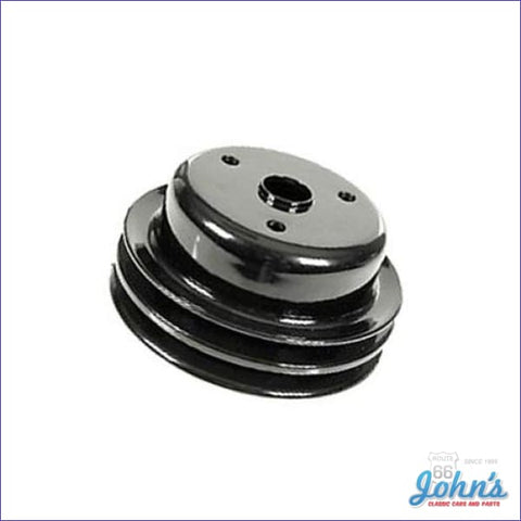 Crank Pulley Sb Lt1 2 Groove Deep W/o Ac & With Ps Long Water Pump. X