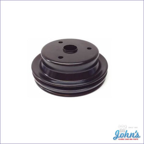 Crank Pulley Sb Without Z28 2 Groove Standard W/o Ac & With Ps Long Water Pump. F2 F1
