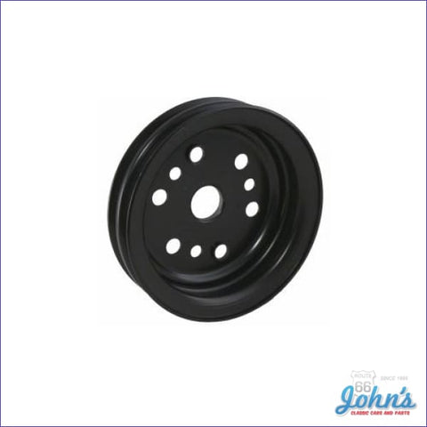 Crank Pulley Sb & Z/28 2 Groove Deep W/ac-W/o Ps Or W/o Ac-W/air Pump Short Wp. Replaces Gm# 3858533