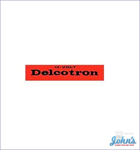 Delcotron Alternator Decal A F2 X F1