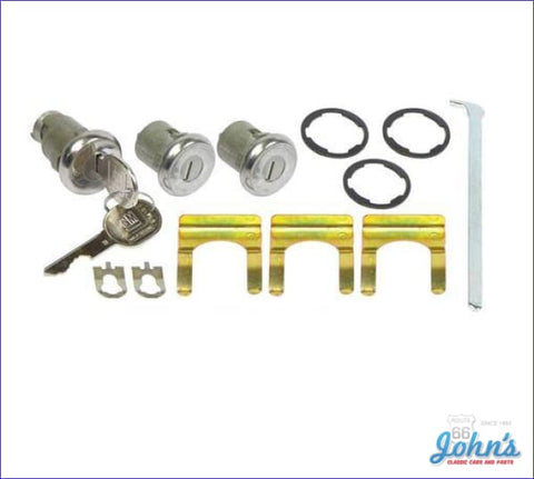 Door And Trunk Lock Kit With Late Style Keys A F1