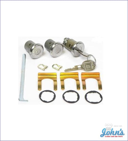 Door And Trunk Lock Kit With Late Style Keys A