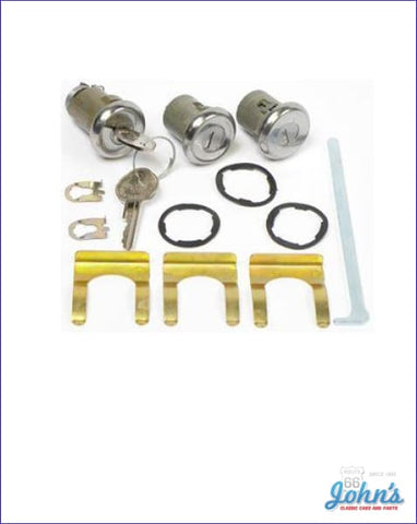 Door And Trunk Lock Kit With Oe Style Keys A F1