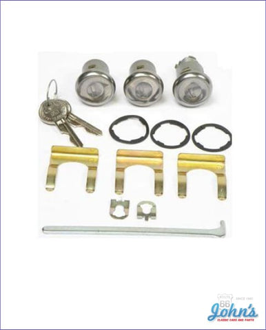 Door And Trunk Lock Kit With Oe Style Keys A
