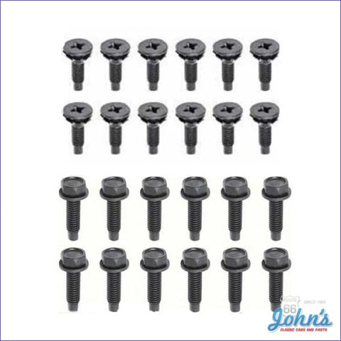 Door Hinge Bolt Kit. For All 4 Hinges - 24Pc. 67 Nova With Stamped Steel Upper Only. X