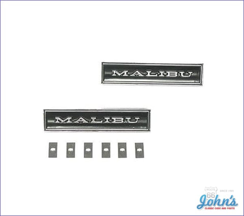 Door Panel Emblems Malibu Pair A