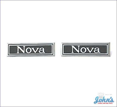 Door Panel Emblems Nova Ss And Custom Pair Gm Licensed Reproduction X