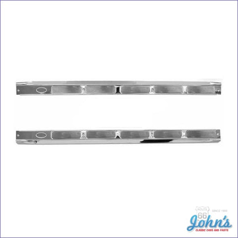 Door Sill Plates Pair. Stainless Steel. F2