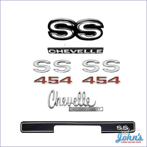 Emblem Kit Ss454 Without Cowl Induction Emblems With Rear Ss Bumper Pad A