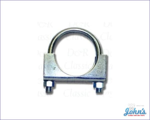 Exhaust Clamp 2-1/4 Plated Steel. Each A F2 X F1