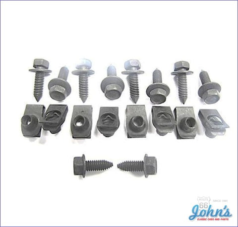 Fender Extension Hardware Kit Reinforcement Underneath- 18 Piece A