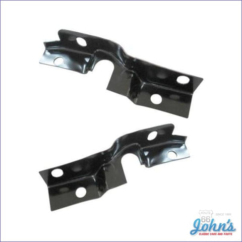 Fender To Radiator Support Upper Brackets Pair. A