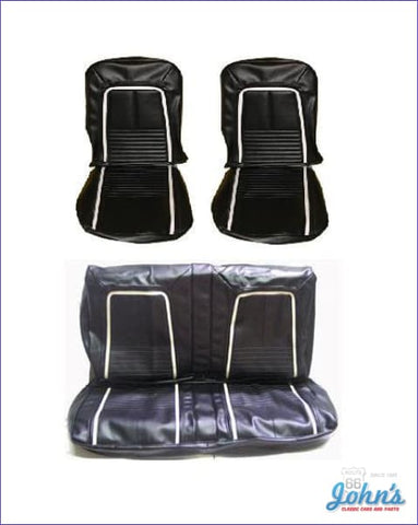 Front And Rear Seat Cover Kit- Bucket Seats Deluxe Interior With Fold Down F1