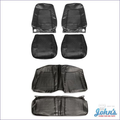 Front And Rear Seat Cover Kit- Coupe With Bucket Seats Standard Interior Without Fold Down F1