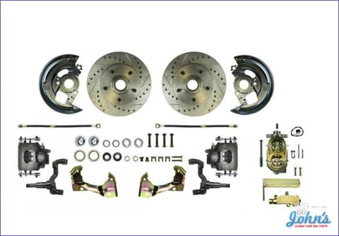 Front Disc Brake Conversion Kit Non-Power With Drilled & Slotted Rotors (Os2) X
