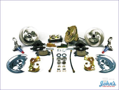 Front Disc Brake Conversion Kit With 9 Power Booster Standard Rotors. **on Sale** (Os4) A X F1