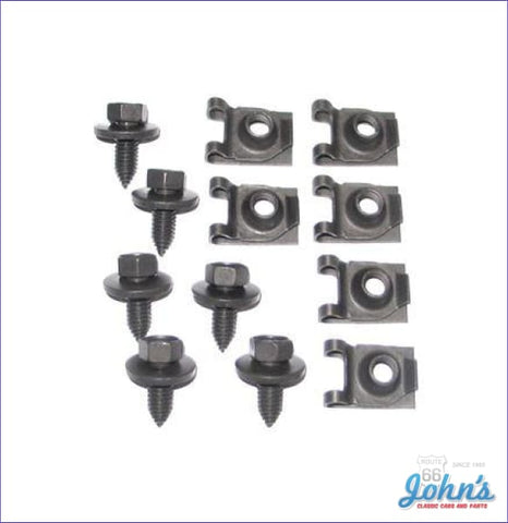 Front Leaf Spring Bracket Bolt And Nut Kit. 12Pc F2 X F1
