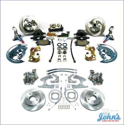 Front & Rear Disc Brake Conversion Kit Non-Power With Staggered Shocks Standard Rotors. (Os8) X F1