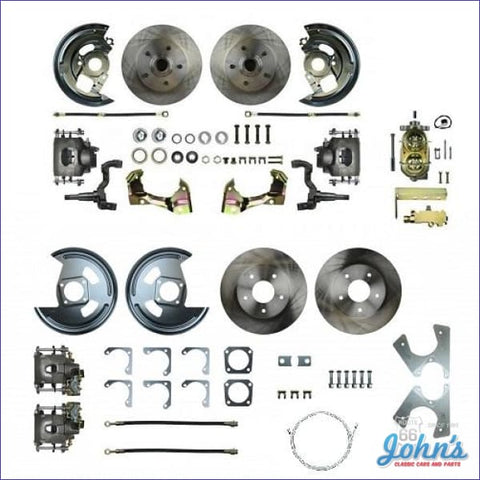 Front & Rear Disc Brake Conversion Kit Non-Power With Standard Rotors. (Os8) X