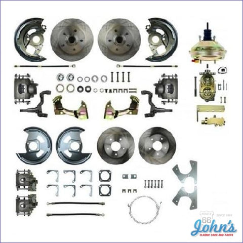Front &rear Disc Brake Conversion Kit With Power Brakes Standard Rotors. (Os8) X